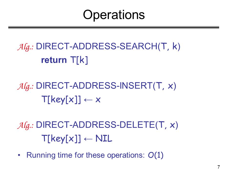 38 Universal Hashing – Main Result With universal hashing the chance of collision between distinct keys k and l is no more than the 1/m chance of collision if locations h(k) and h(l) were randomly and independently chosen from the set {0, 1, …, m – 1}