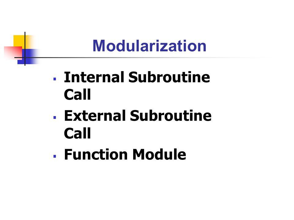 Exercise : Exceptions ? ABAP Program Function Module