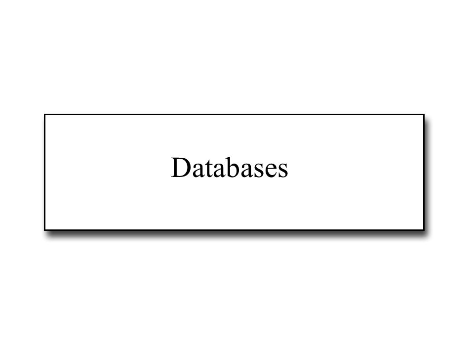 Some classic databases...