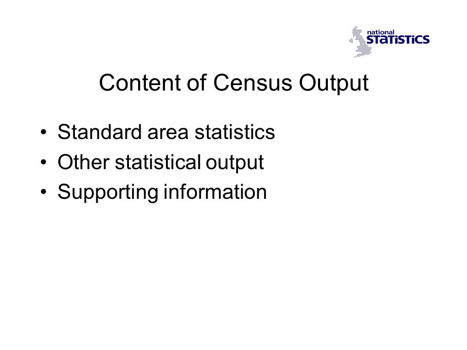 Costs of Census Results Standard Area Statistics are free in effect to the end user.