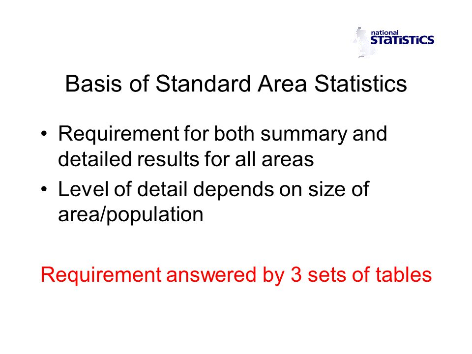 Whats New in Standard Tables .