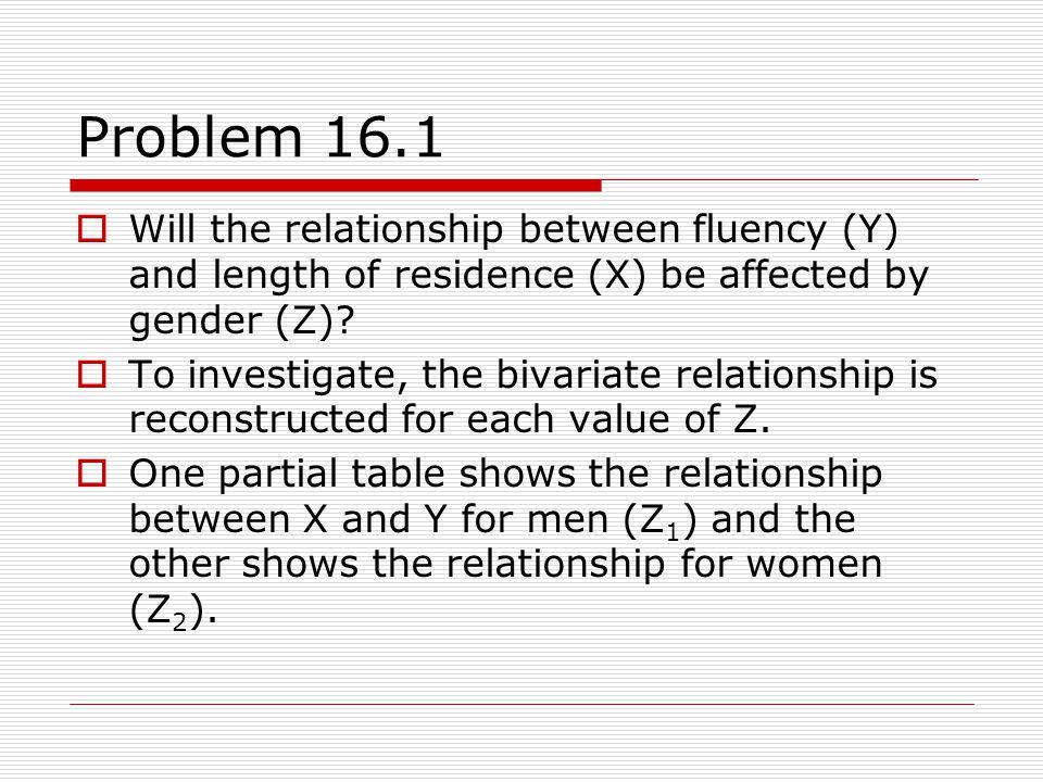 Problem 16.1: Partial Tables Partial table for males. G =.78 < 55 + Lo83%39% Hi17%61%