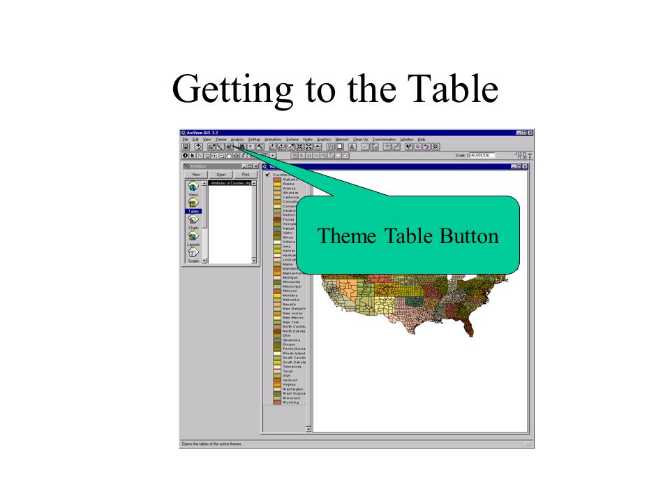 Getting to the Table Theme Table Button