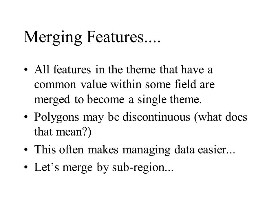 Merging Features....