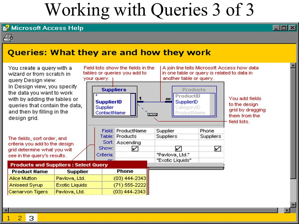 Working with Queries 3 of 3