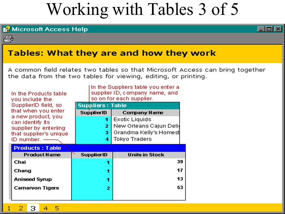 Working with Tables 3 of 5