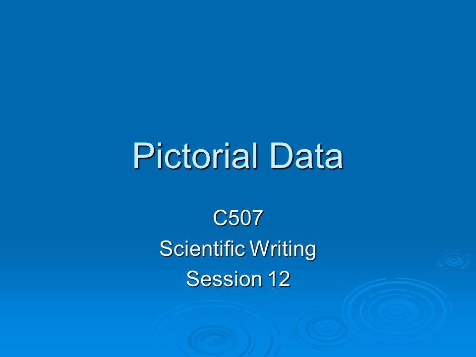Pictorial Data C507 Scientific Writing Session 12