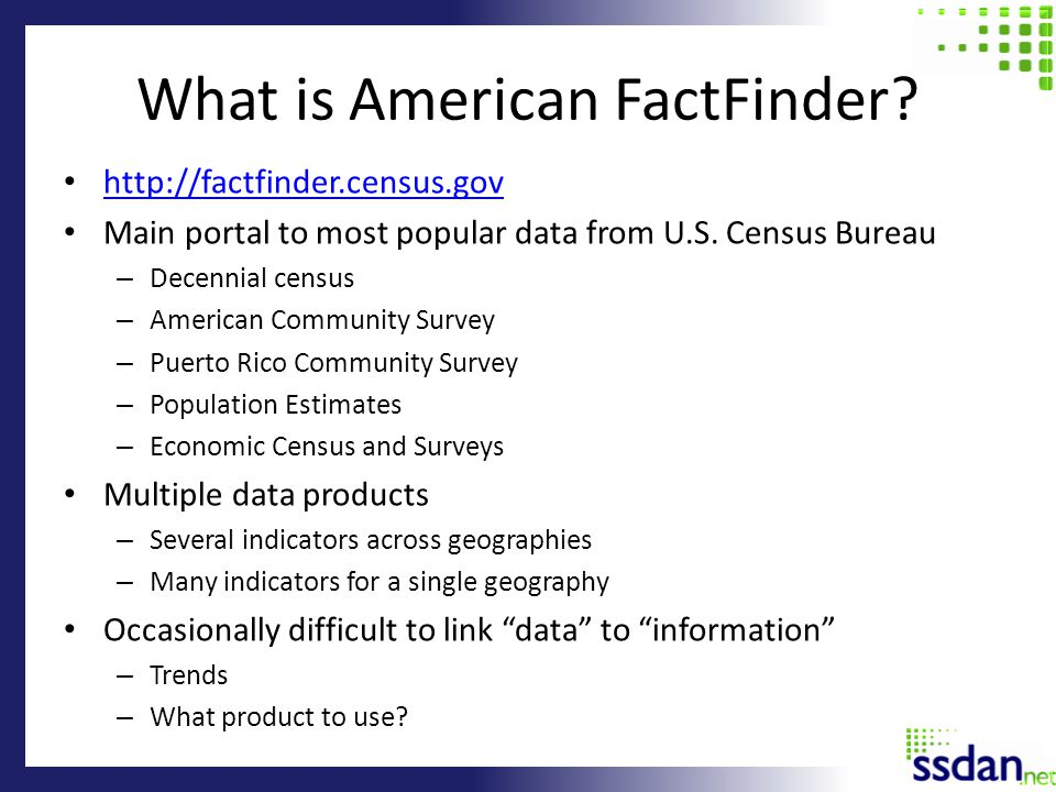 What is American FactFinder.
