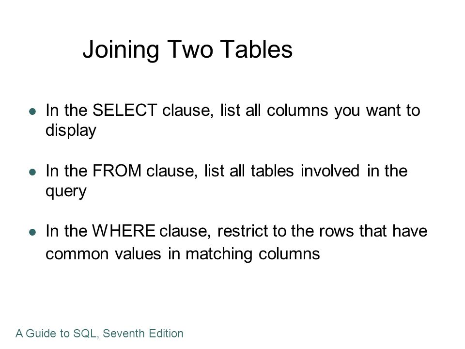 Using a Subquery within a Subquery A nested subquery is a subquery within a subquery SQL evaluates the queries from the innermost query to the outermost It is possible that there is more than one approach to formulation of the queries Many DMBS have optimizers that analyze queries for efficiency A Guide to SQL, Seventh Edition