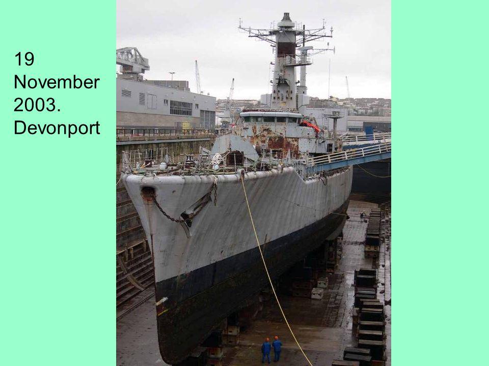 19 November 2003. Devonport