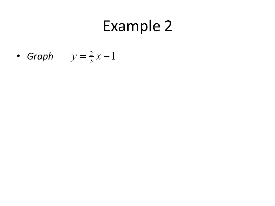Example 2 Graph