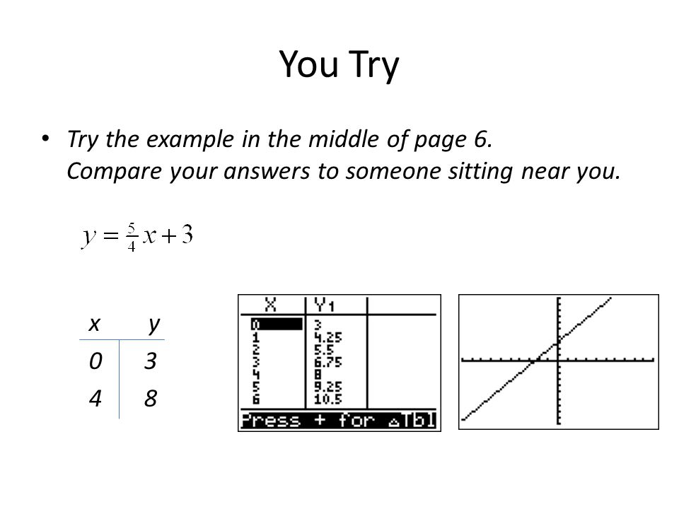 You Try Try the example in the middle of page 6.Compare your answers to someone sitting near you.