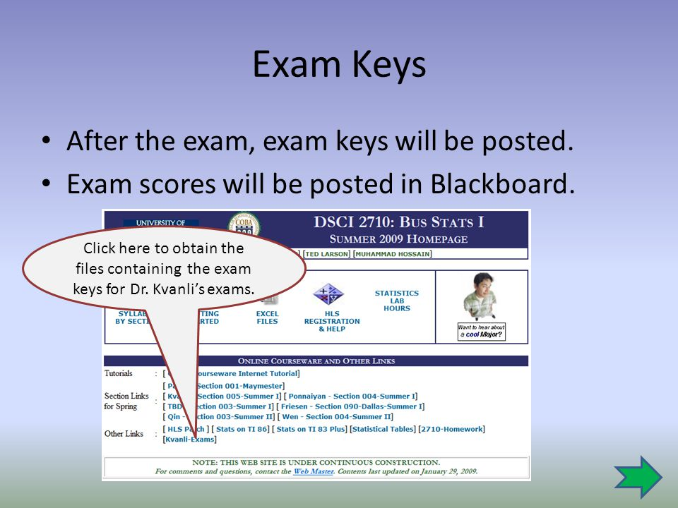 Exam Keys After the exam, exam keys will be posted.