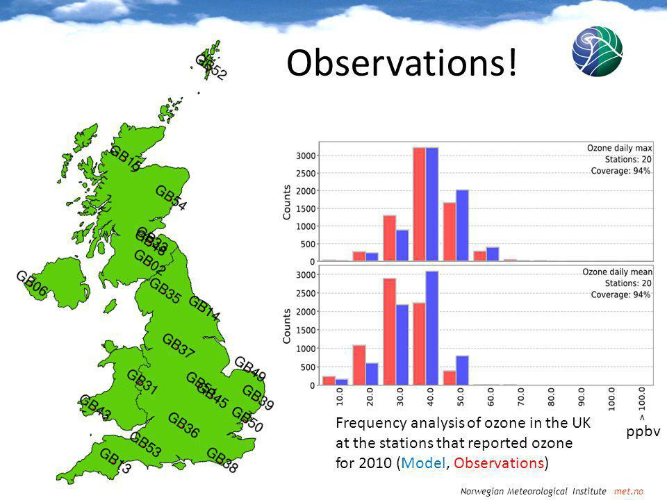 Norwegian Meteorological Institute met.no Observations.