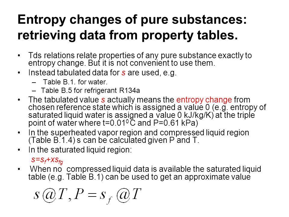 Horizontal line segment entropy change during an isenthalpic process (application: throttling) Vertical line segment enthalpy change during an isentropic process (application: turbine).