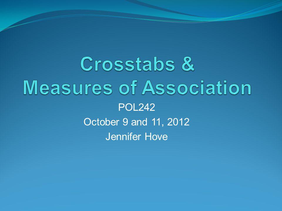 POL242 October 9 and 11, 2012 Jennifer Hove