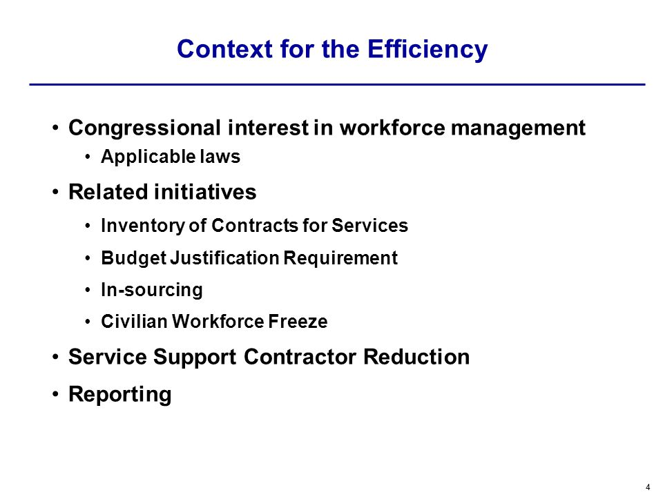 55 Congressional Interest Laws Section 2330a of Title 10 Section 235 of Title 10 Section 8108 of the FY 2011 Appropriation Act Requirements Service Contract Inventory –The FY 2011 NDAA added greater responsibility for USD(P&R) and USD(C) Specification of Contract Services in Budget Justification Materials –Funding –FTE Requires Navy and Air Force to leverage Armys Reporting System –Requires a D-W Plan These laws require the collaboration across the Contracting, Manpower and Budget Communities.