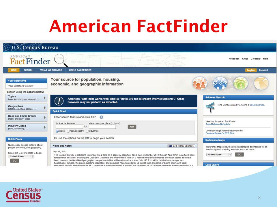 American FactFinder 8