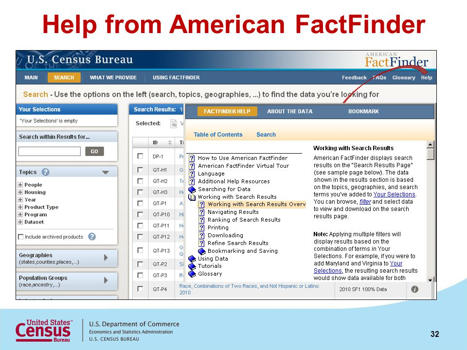 Help from American FactFinder 32