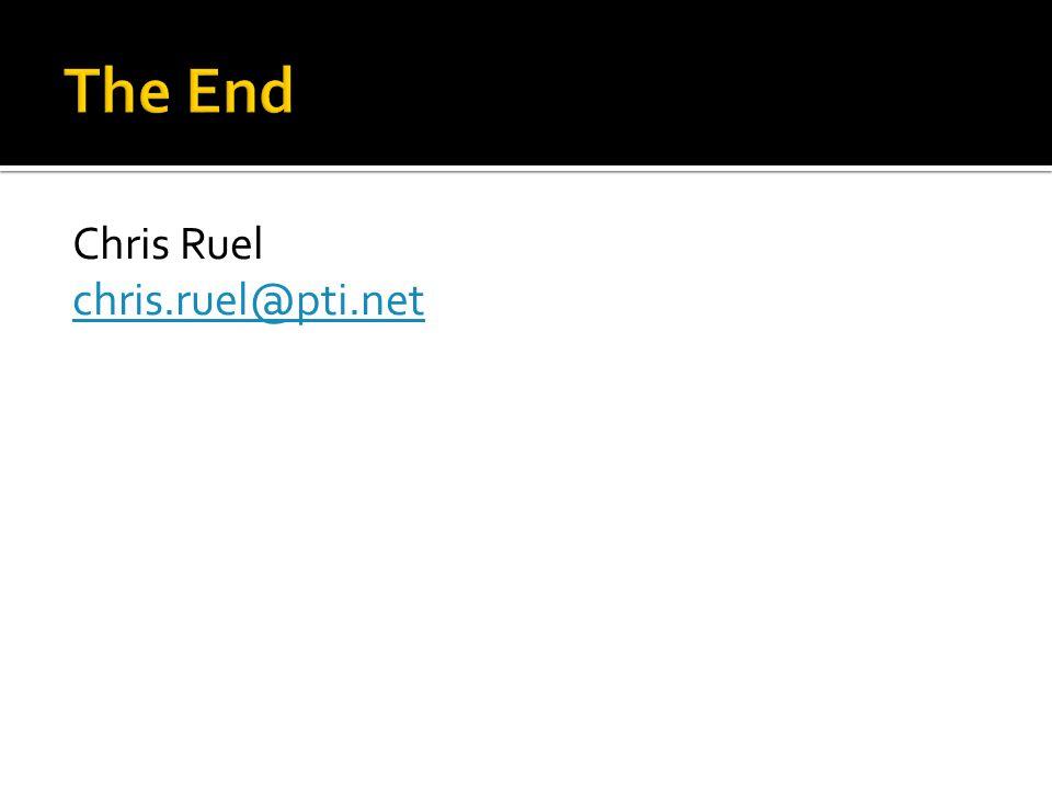 Chris Ruel chris.ruel@pti.net