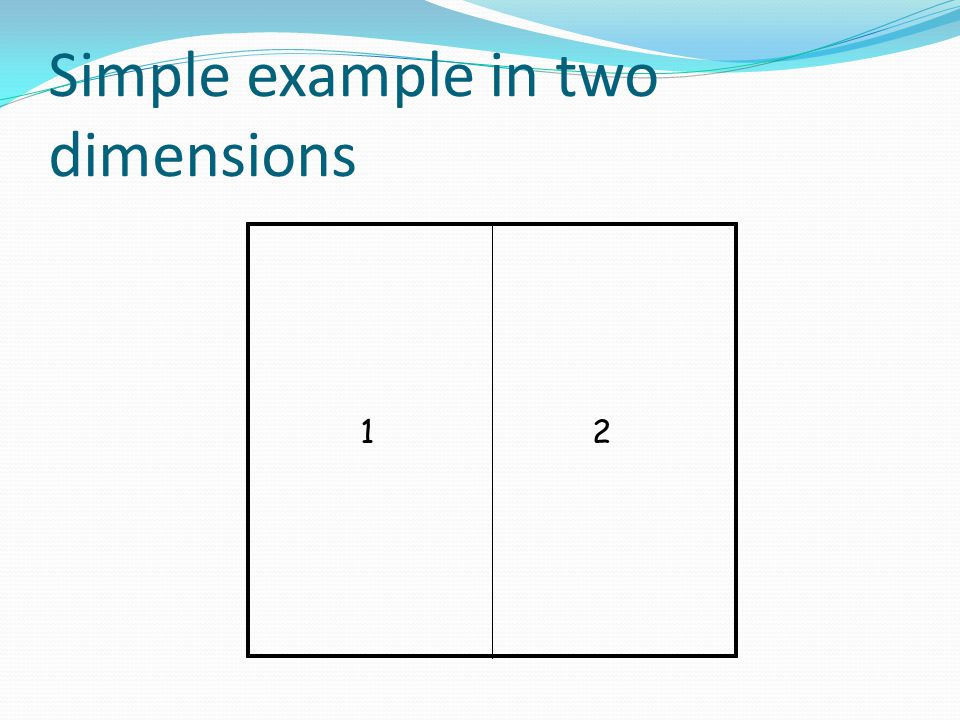 Simple example in two dimensions 12