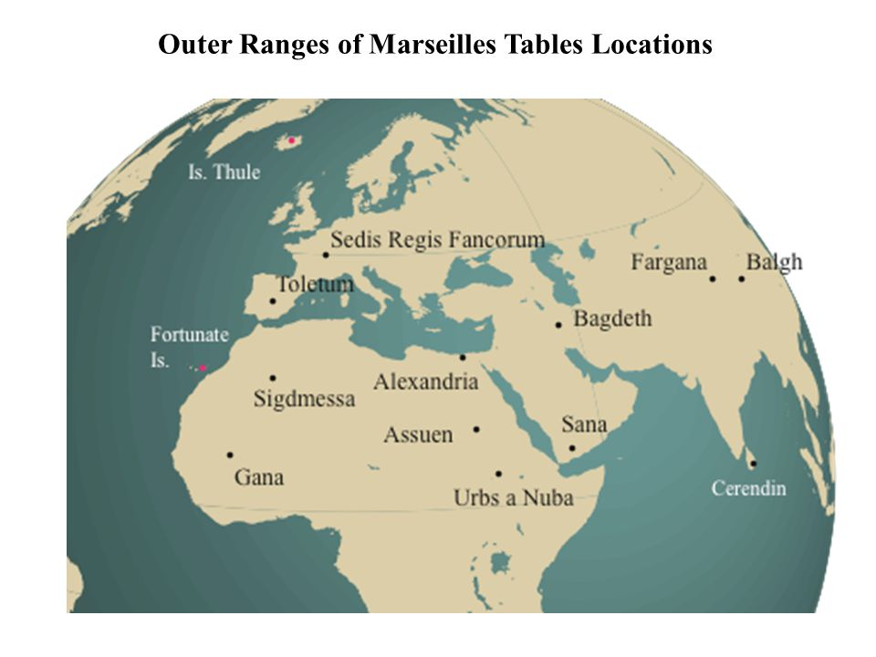 Outer Ranges of Marseilles Tables Locations