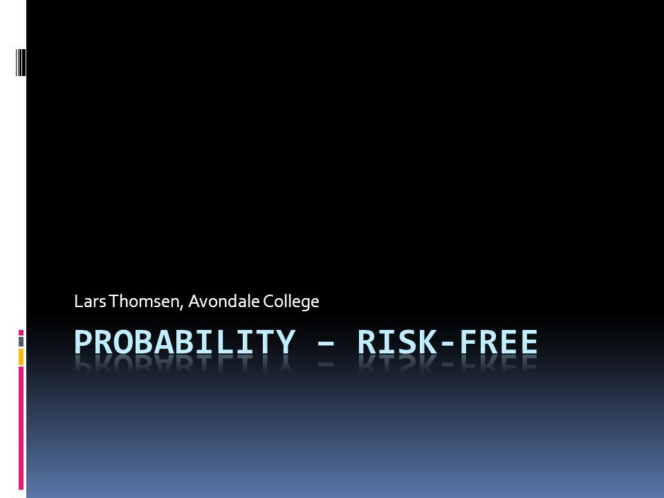 Re-conceptualising probability What has changed?