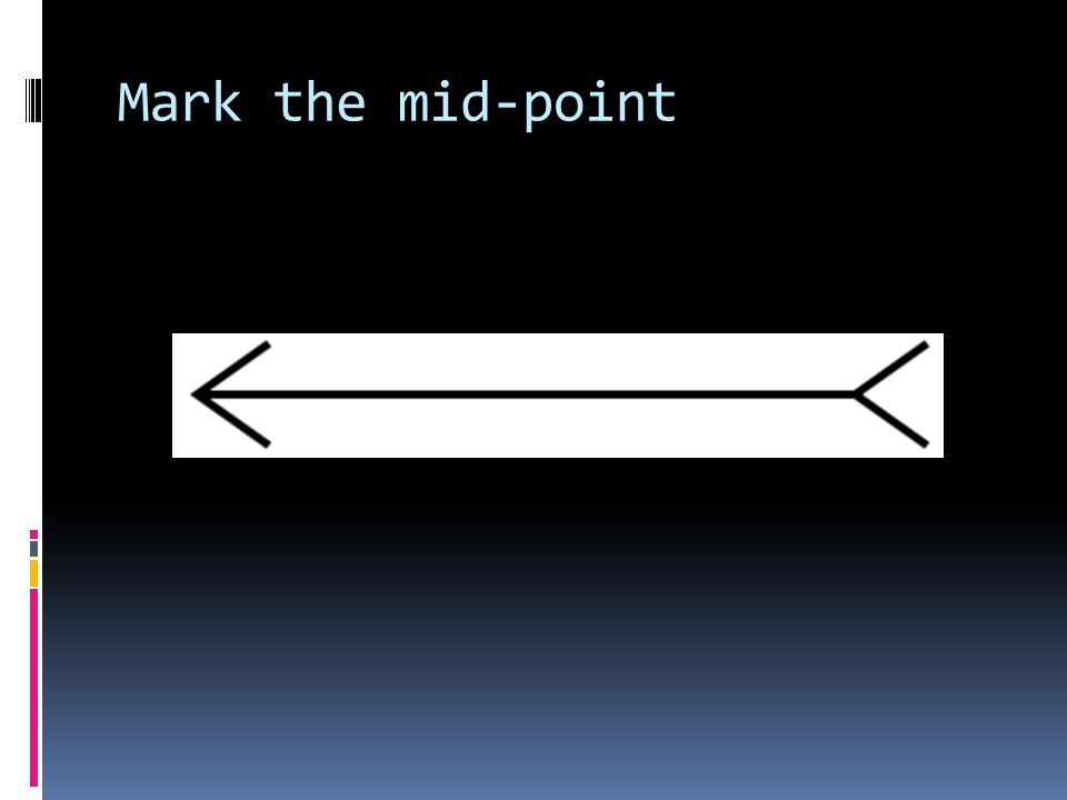 Mark the mid-point