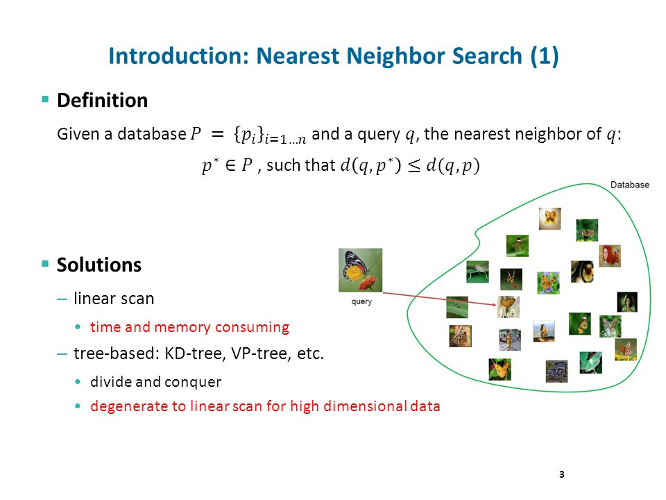 Introduction: Nearest Neighbor Search (1) 3