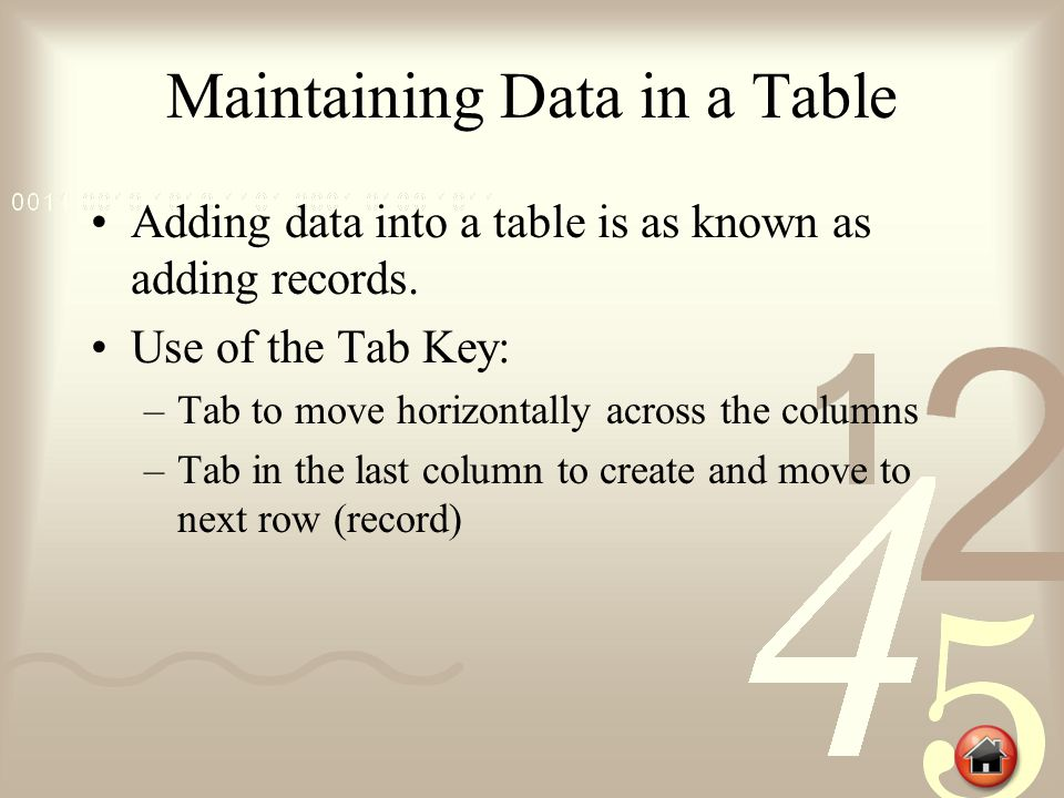 Sort Data Use Sort & Filter to organize the data in a table.