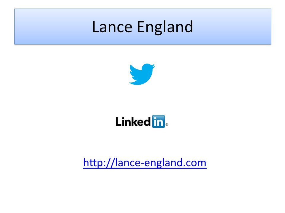 Lance England http://lance-england.com