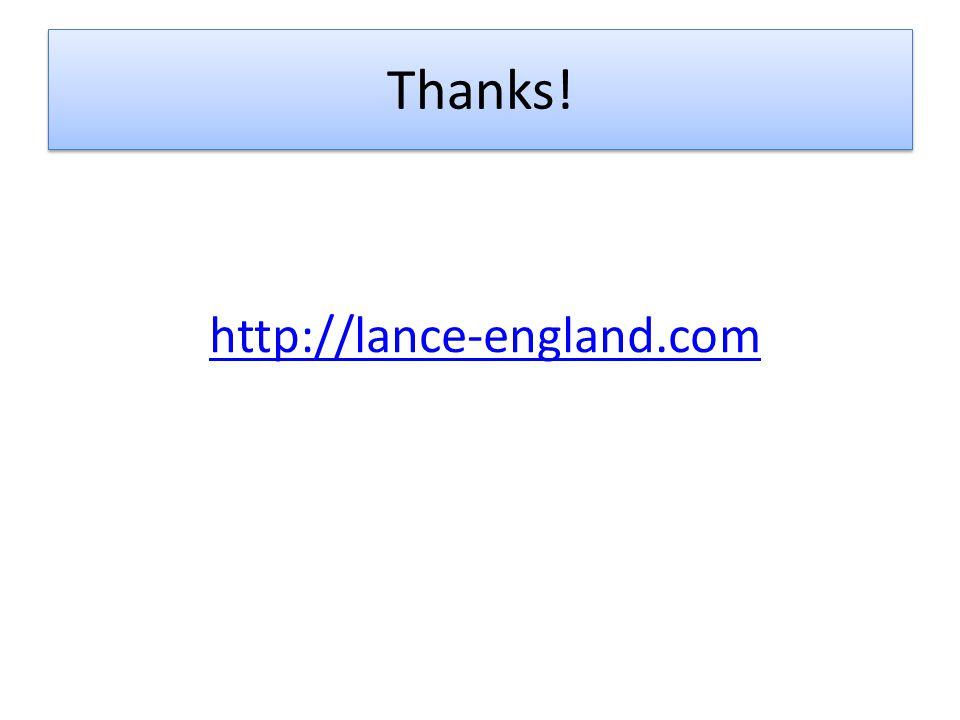 Thanks! http://lance-england.com