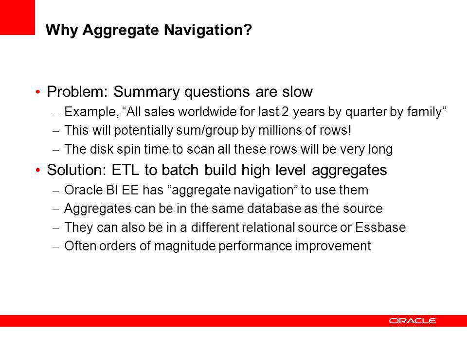 Oracle BI EE Architecture Relational Tables BI Server Semantic Layer Metadata SQL
