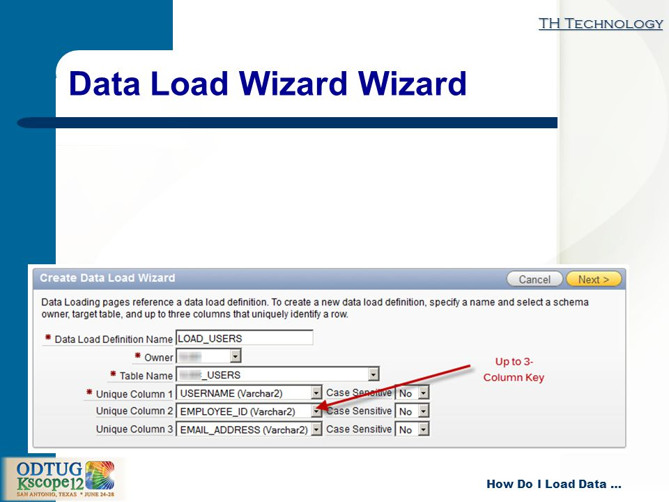 TH Technology How Do I Load Data … Data Load Wizard Wizard