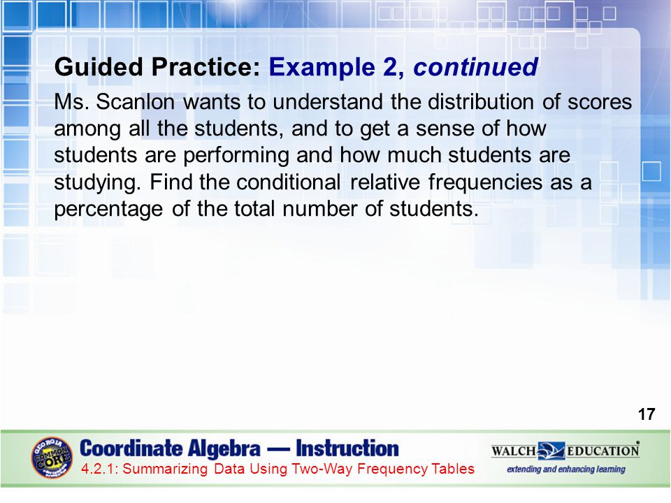 Guided Practice: Example 2, continued Ms.