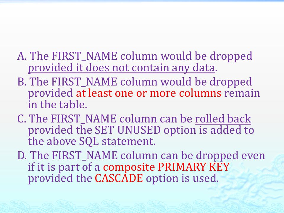 Q56/80 Which mandatory clause has to be added to the following statement to successfully create an external table called EMPDET.