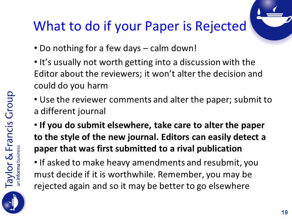 What to do if your Paper is Published (aka; How to Promote your Paper) Reading Lists Departmental website or personal webpage Social and Academic Networking - e.g.