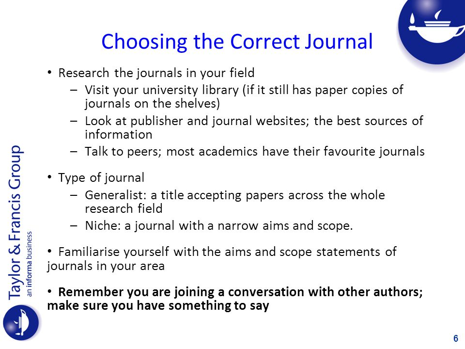 Assessing the Best Journal What is the readership and usage.