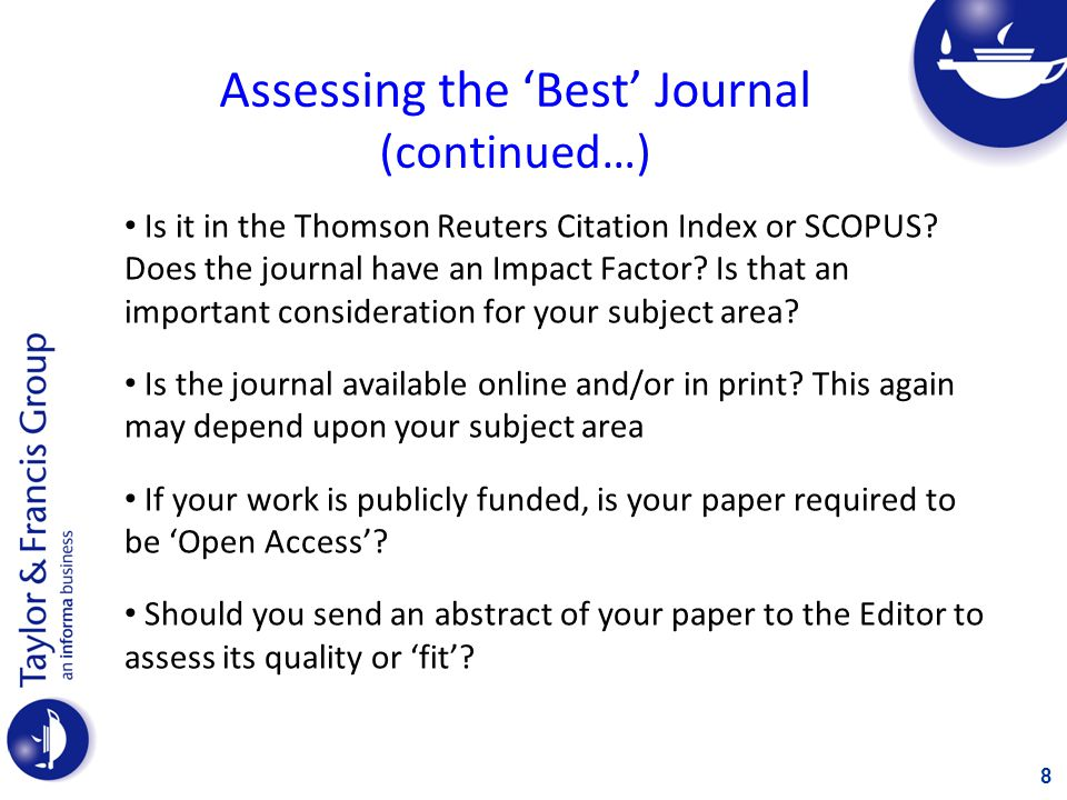 The Best Journal A lot of vital information about the publication can be found on the website of a good journal 9
