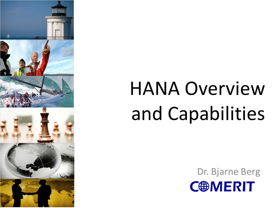 HANA Overview and Capabilities Dr. Bjarne Berg