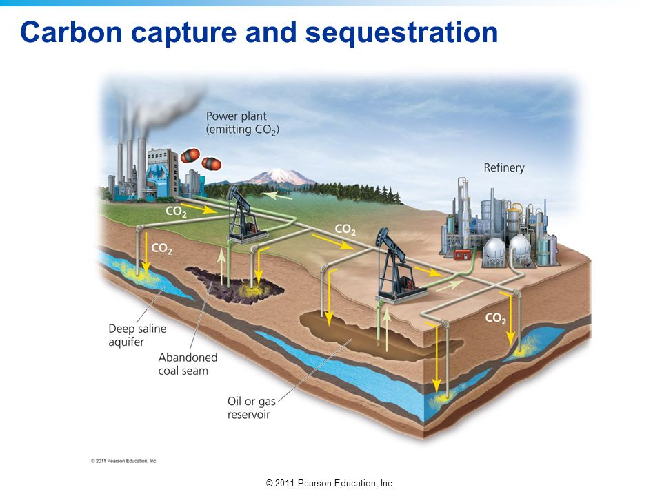 © 2011 Pearson Education, Inc. Carbon capture and sequestration