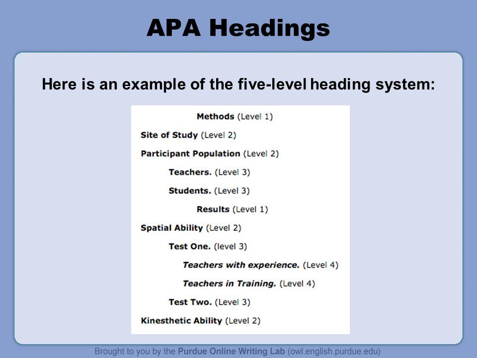 Essay on apa style