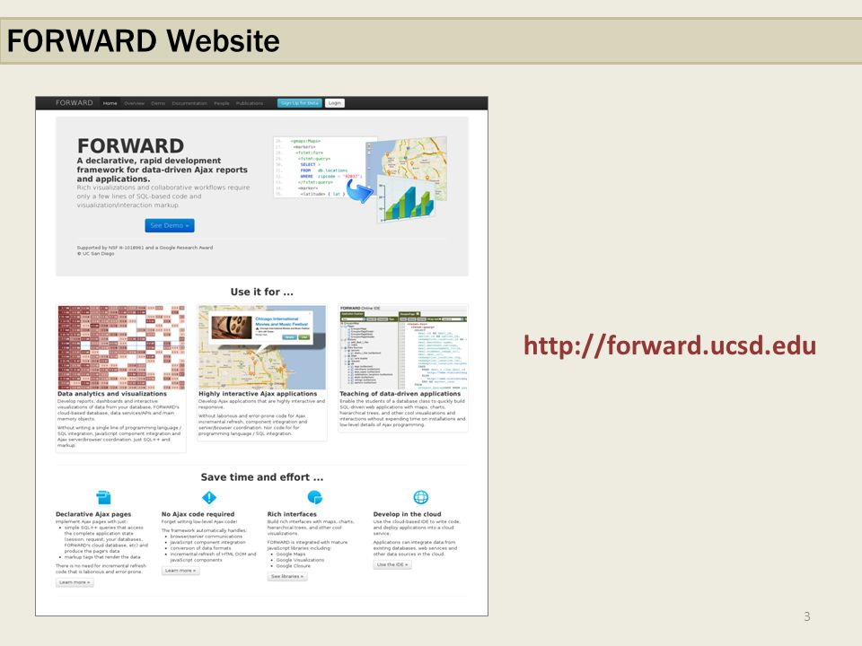 3 FORWARD Website