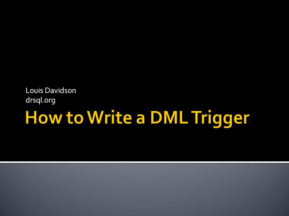 Louis Davidson drsql.org
