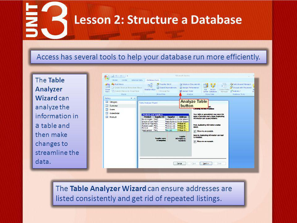 Lesson 2: Structure a Database With a little patience, you can change anything in your tables.