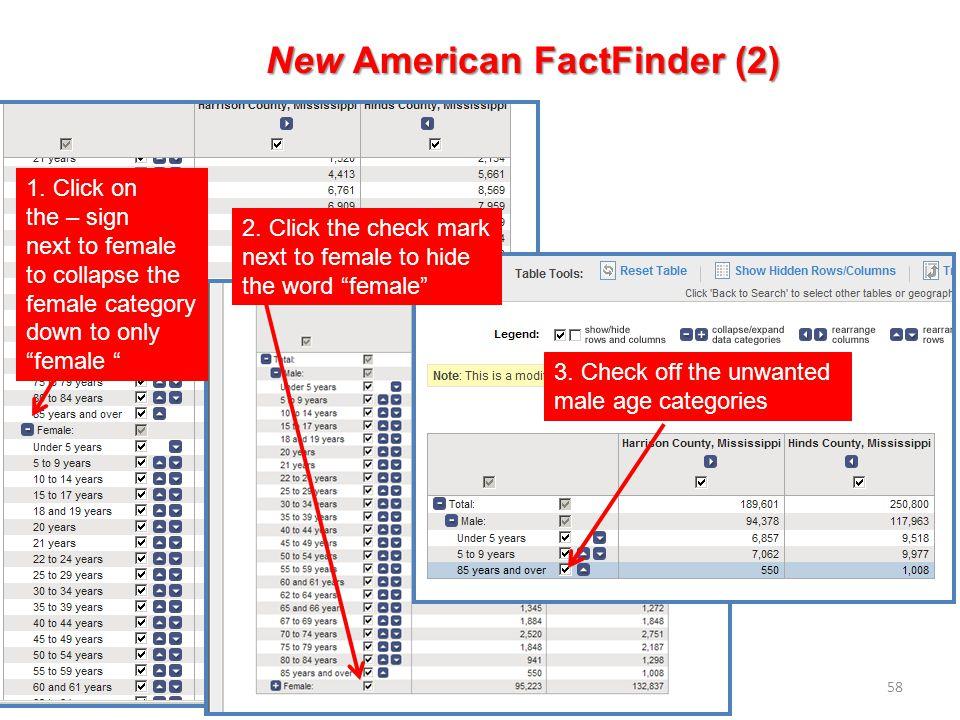 58 New American FactFinder (2) 1.