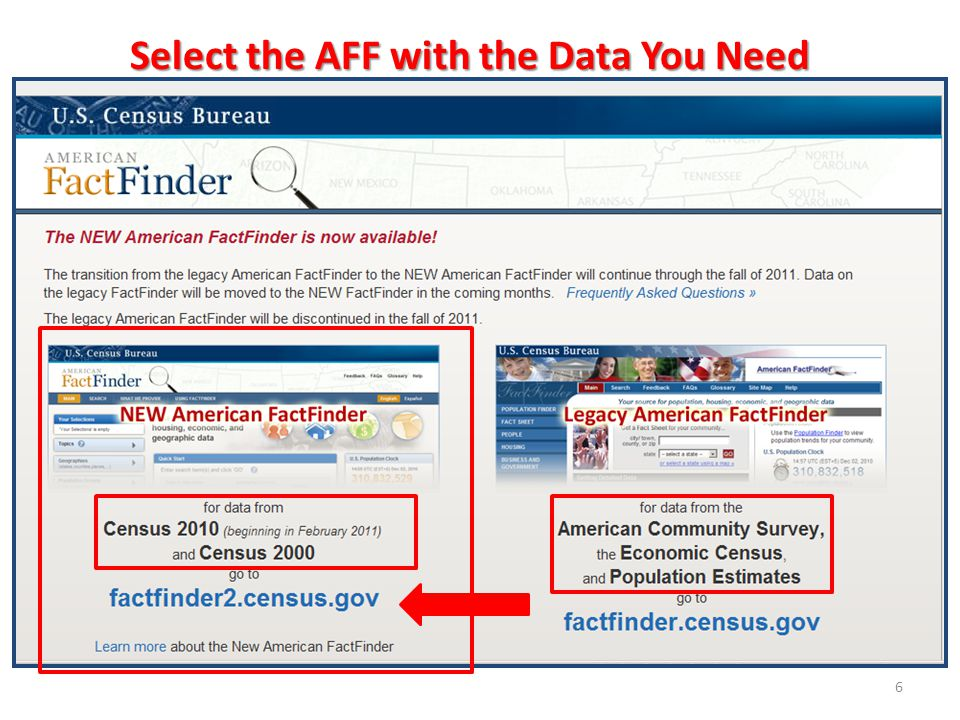 6 Select the AFF with the Data You Need