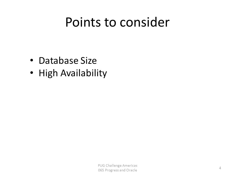 4 Database Size High Availability Points to consider