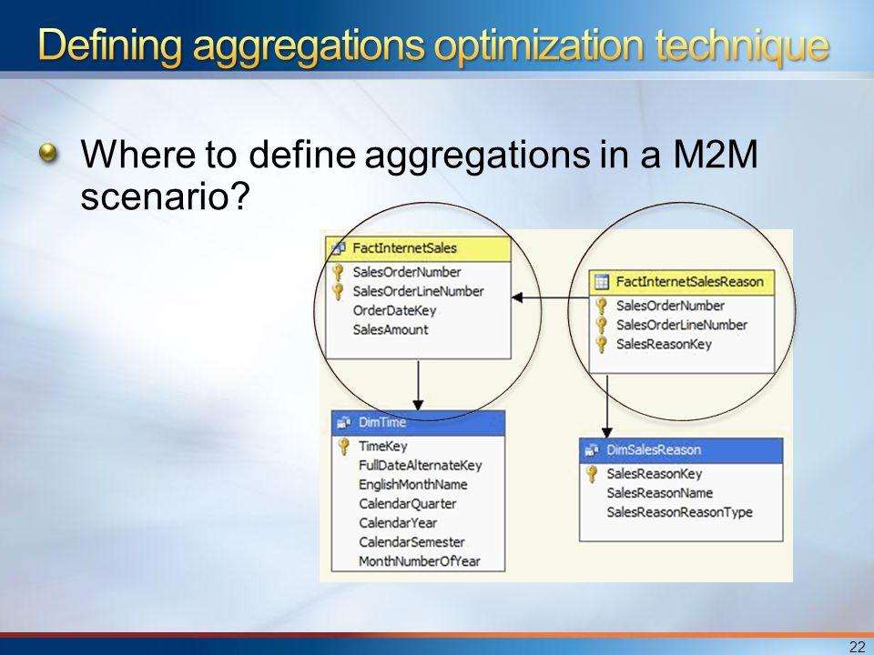 Where to define aggregations in a M2M scenario 22