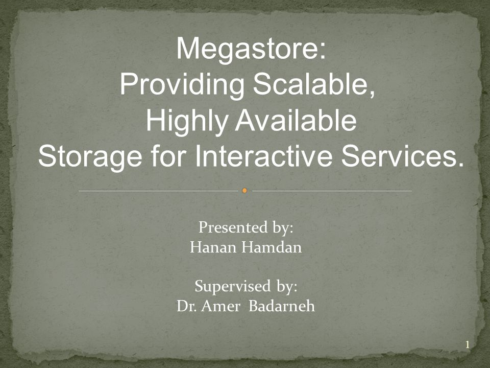 Megastore: Providing Scalable, Highly Available Storage for Interactive Services.